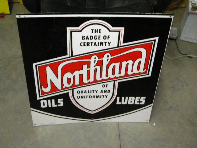 Photo old northland motor oils sst tin sign for Northland motor oils lubricants